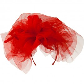 Tulle Couture Fascinator - Red