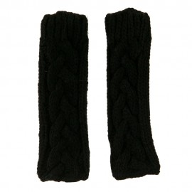 11 Inches Thick Cable Fingerless Arm Warmer