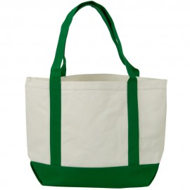 Two Tone Cotton Canvas Tote Bag