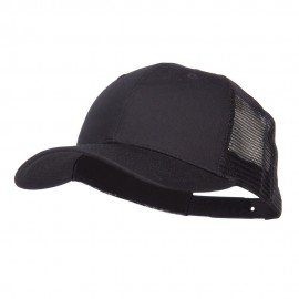 Constructed Twill Mesh Trucker Cap - Black