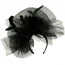 Tulle Couture Fascinator - Black