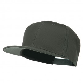 Superior Cotton Twill Flat Bill Snapback Prostyle Cap - Charcoal