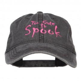 Too Cute To Spook Embroidered Washed Cap