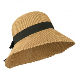 Women's UPF 50+ Wide Brim Sun Hat - Tan