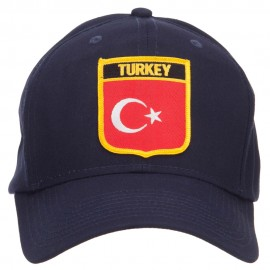 Turkey Flag Shield Patched Cap