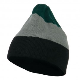 Three Colors Striped Knitted Beanie