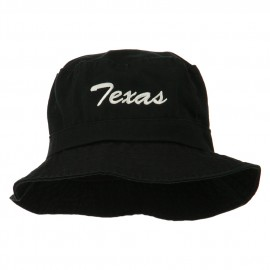 Texas Embroidered Pigment Dyed Bucket Hat