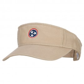 Tennessee Flag Logo Embroidered Pro Style Cotton Washed Visor