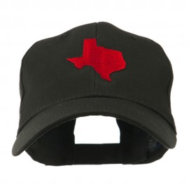 Texas State Outline Embroidered Cap - Black