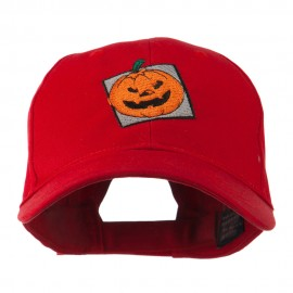 Halloween Jack O Lantern Teeth Embroidered Cap