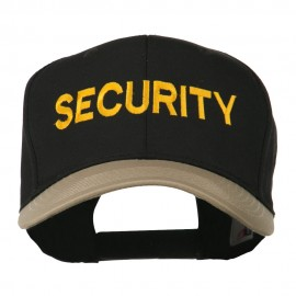 Security Embroidered Two Tone Pro Style Cap