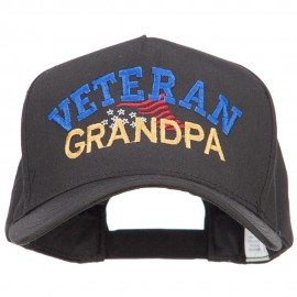 Veteran Grandpa Embroidered Solid Cotton Prostyle Cap