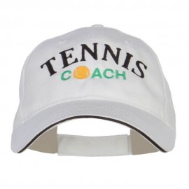 Tennis Coach Embroidered Canvas Cotton Cap
