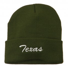 Texas Embroidered Long Cuff Beanie