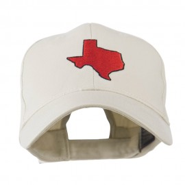 Texas State Outline Embroidered Cap - Stone