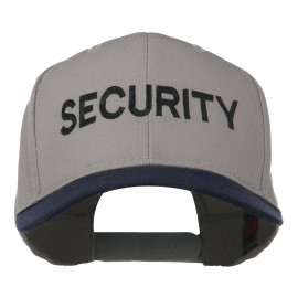 Security Embroidered Two Tone Pro Style Cap - Navy Grey