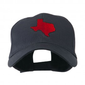 Texas State Outline Embroidered Cap - Navy