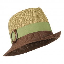 UPF 50+ Two Toned Tweed Fedora