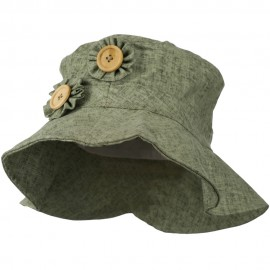 Two Flower Button Bucket Hat