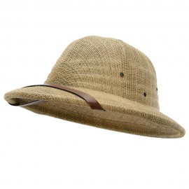Pith Helmet Twisted Toyo with Flower Ribbon