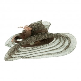 Taffeta Braid Horse Hair Organza Hat