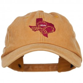Texas Football State Map Embroidered Unstructured Cap