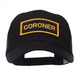 Text Law and Forces Embroidered Patched Mesh Cap - Coroner
