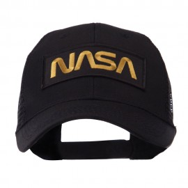 Text Law and Forces Embroidered Patched Mesh Cap - NASA