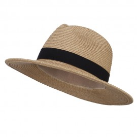 UPF 50+ Tweed Large Brim Fedora - Wheat