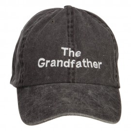 The Grandfather Embroidered Big Washed Cap