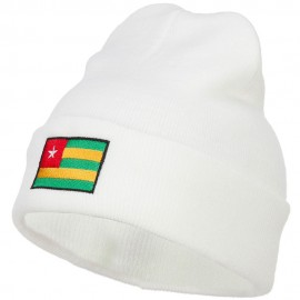 Togo Flag Embroidered Long Beanie