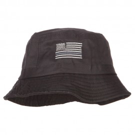 Thin Grey Line USA Flag Embroidered Bucket Hat