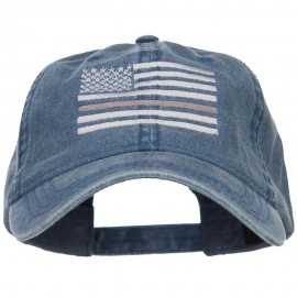 Thin Grey Line Silver Flag Embroidered Washed Cap