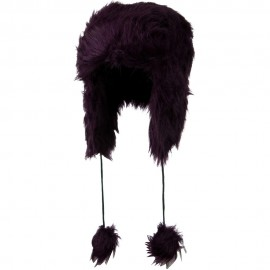 Woman's Faux Fur Pom Pom Trooper Hat