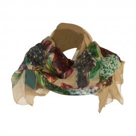 Thistle Flower Summer Scarf