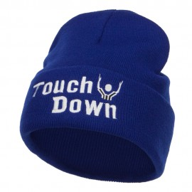 Football Touch Down Embroidered Long Beanie