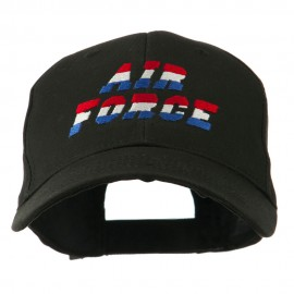 Three Color Air Force Logo Embroidered Cap