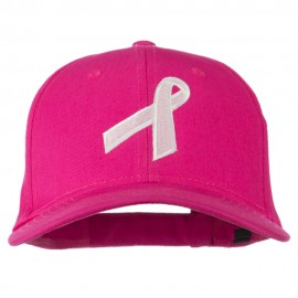 Breast Cancer Ribbon Embroidered Cap