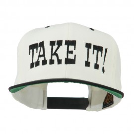 Take It Embroidered Flat Bill Cap