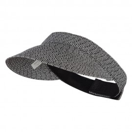 UPF 50+ Tweed Adjustable Visor - Black