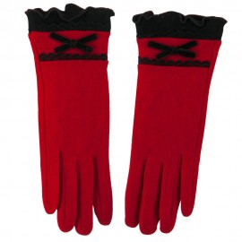 Women's Texting Lace and Bow Glove