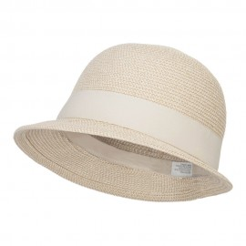 UPF 50+ Women's Slanted Brim Cloche - White