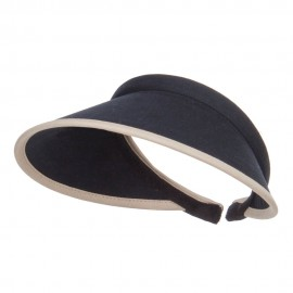 Trim Brushed Cotton Clip On Visor - Black