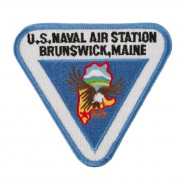 Triangular Navy Airfield Patches - NAS Maine