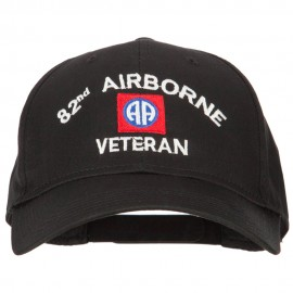 US Army 82nd Airborne Veteran Logo Embroidered Solid Cotton Pro Style Cap