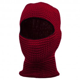 Two Tone One Hole Face Mask - Red