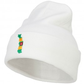 Togo Flag Map Embroidered Long Beanie