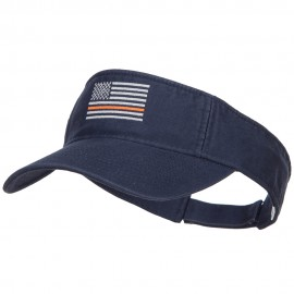 Thin Orange Line American Flag Embroidered Visor
