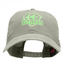 Fitness Logo Washed Solid Pigment Dyed Cotton Twill Brass Buckle Cap