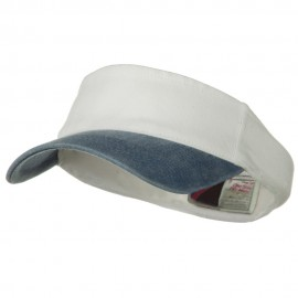 Two Tone Washed Pigment Dyed Flex Sun Visor